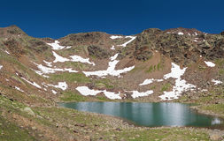 Lago delle marmotte, panorama Stock Photography