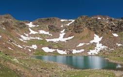 Lago delle marmotte, panorama Stock Photography