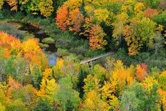 Lago delle nubi, montagne Michigan dell'istrice Fotografie Stock