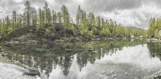 Lago delle streghe, alpe di Devero Fotografia Stock