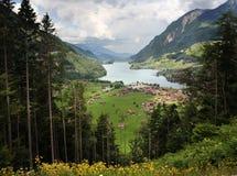 Lago dello svizzero delle montagne Fotografia Stock Libera da Diritti