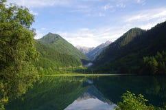 Lago dello Valle-specchio dei nove villaggi fotografie stock libere da diritti