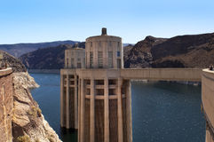 Lago (depósito), aguamiel y presa de Hoover Imágenes de archivo libres de regalías