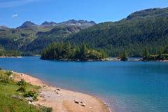 Lago Devero Fotografie Stock