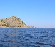 Lago Dhebar do lago Jaisamand perto de Udaipur, Rajasthan, Índia Imagens de Stock