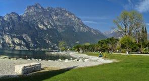Lago Di加尔达,意大利 免版税库存照片