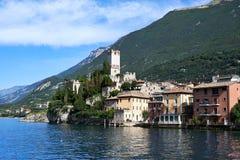 Lago di加尔达,马尔切西内,意大利 库存照片