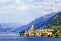 Lago di加尔达,马尔切西内 库存图片