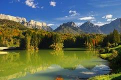 Lago di Barcis (Friuli Venezia Giulia) Italia Fotografia Stock Libera da Diritti