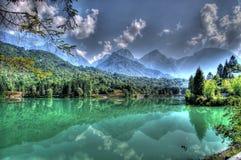 Lago Di Barcis (Meer Barcis) Stock Afbeeldingen