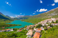 Lago di Barrea, Abruzzo, Italy Royalty Free Stock Images