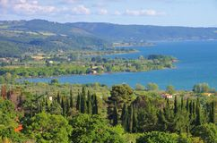 Lago di Bolsena image stock