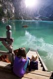 Lago di Braies Photo stock