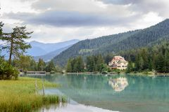 Lago di Braies Lizenzfreie Stockfotografie