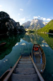 Lago di Braies Stock Photos