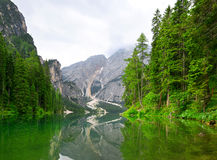 Lago di Braies Imagen de archivo