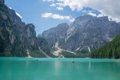 Lago Di Braies stock foto's