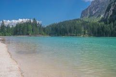 Lago di Braies fotografía de archivo