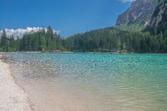Lago di Braies Fotografia de Stock
