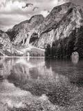 Lago di Braies Imagem de Stock
