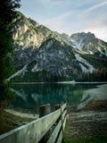 Lago Di Braies Royalty-vrije Stock Afbeelding