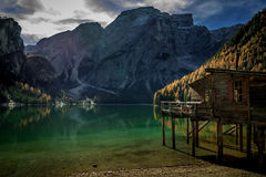 Lago Di Braies Royalty-vrije Stock Foto's