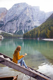 Lago di Braies Fotografia Stock