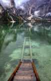 Lago di Braies, Italie Images stock