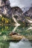 Lago di Braies, Italy Stock Photo