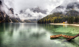 Lago di Braies, Italy Stock Photos