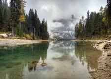 Lago di Braies, Italy Royalty Free Stock Photos
