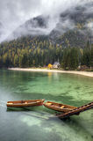 Lago di Braies, Itália Imagens de Stock