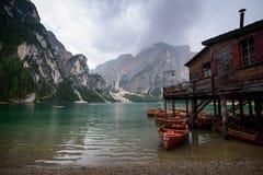 Lago di Braies royalty free stock image