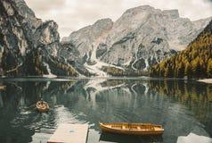 Lago Di Braies - magiczny breathtaking jezioro obrazy stock
