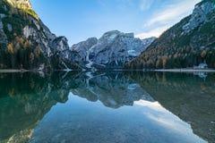 Lago di Braies oder Pragser Wildsee in italian Alps Stock Photography