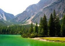 Lago di Braies Pragser Wildsee Стоковая Фотография