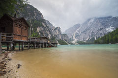 Lago di Braies (Pragser Wildsee) Royalty Free Stock Photos