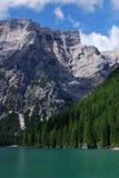 Lago Di Braies, Pragser Wildsee -, Południowy Tyrol, dolomity Zdjęcie Royalty Free