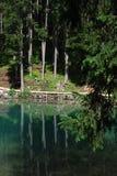 Lago di Braies - Pragser Wildsee, södra Tyrol, Dolomites Fotografering för Bildbyråer