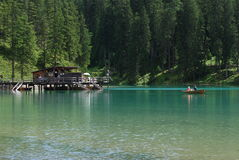 Lago di Braies - Pragser Wildsee, South Tyrol, Dolomites Stock Photo