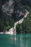 Lago di Braies - Pragser Wildsee, South Tyrol, Dolomites Stock Photos