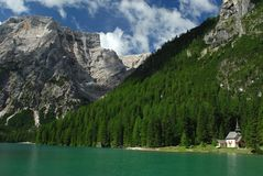 Lago di Braies - Pragser Wildsee, South Tyrol, Dolomites Stock Images