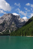 Lago di Braies - Pragser Wildsee, Tirol sul, dolomites Imagens de Stock