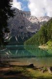 Lago di Braies - Pragser Wildsee, Tirol sul, dolomites Foto de Stock
