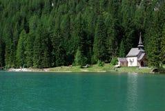 Lago di Braies - Pragser Wildsee, Tirol sul, dolomites Fotografia de Stock Royalty Free