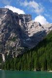 Lago di Braies - Pragser Wildsee, Tirolo del sud, dolomia Immagine Stock Libera da Diritti
