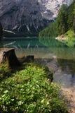 Lago di Braies - Pragser Wildsee, Tyrol du sud, dolomites Photographie stock