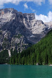 Lago Di Braies - Pragser Wildsee, Zuid-Tirol, Dolomiet Royalty-vrije Stock Foto