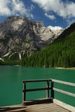 Lago Di Braies - Pragser Wildsee, Zuid-Tirol, Dolomiet Stock Foto's