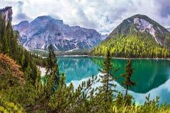 Lago di Braies, South Tyrol Royalty Free Stock Photo